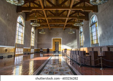 LOS ANGELES: March 2016 -  Interior of Union Station building in Los Angeles, CA