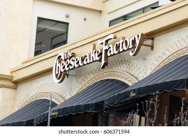 Los Angeles, March 21 2017: The cheesecake factory store at The Grove. The Grove is a retail and entertainment complex in Los Angeles, CA.
