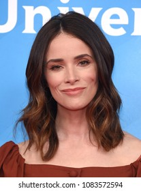 LOS ANGELES - MAY 02:  Abigail Spencer arrives for the NBCUniversal Summer Press Day 2018 on May 2, 2018 in Universal City, CA