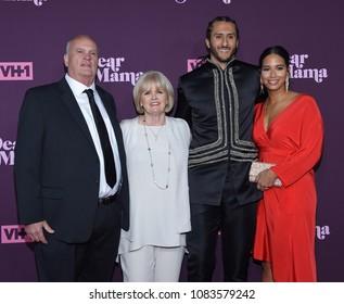 LOS ANGELES - MAY 03:  Colin Kaepernick, Teresa Kaepernick, Rick Kaepernick and Nessa Diab arrives for VH1's 3rd Annual 'Dear Mama: A Love Letter to Moms' on May 3, 2018 in Los Angeles, CA