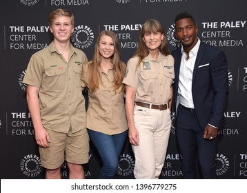 LOS ANGELES - MAY 03:  Robert Irwin, Bindi Irwin, Terri Irwin and Scott Evans arrives for An Evening with the Irwins on May 03, 2019 in Beverly Hills, CA