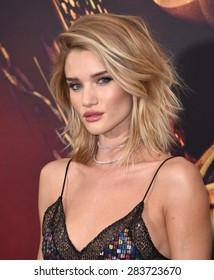 "LOS ANGELES - MAY 07:  Rosie Huntington-Whiteley arrives to the ""Mad Max: Fury Road"" Los Angeles Premiere  on May 7, 2015 in Hollywood, CA"