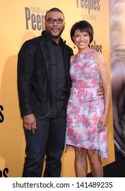 """LOS ANGELES - MAY 08:  Tyler Perry & Tina Gordon Chism arrives to the """"Peeples"""" World Premiere  on May 08, 2013 in Hollywood, CA"""