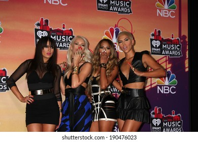 LOS ANGELES - MAY 1:  G.R.L. at the 1st iHeartRadio Music Awards Press Room at Shrine Auditorium on May 1, 2014 in Los Angeles, CA