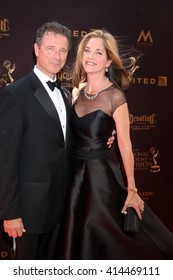 LOS ANGELES - MAY 1:  James DePaiva, Kassie DePaiva at the 43rd Daytime Emmy Awards at the Westin Bonaventure Hotel  on May 1, 2016 in Los Angeles, CA