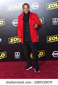 """LOS ANGELES - MAY 10:  Billy Dee Williams arrives to the """"Solo: A Star Wars Story"""" World Premiere  on May 10, 2018 in Hollywood, CA"""
