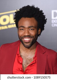 """LOS ANGELES - MAY 10:  Donald Glover arrives to the """"Solo: A Star Wars Story"""" World Premiere  on May 10, 2018 in Hollywood, CA"""