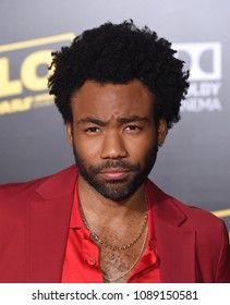 "LOS ANGELES - MAY 10:  Donald Glover arrives to the ""Solo: A Star Wars Story"" World Premiere  on May 10, 2018 in Hollywood, CA"