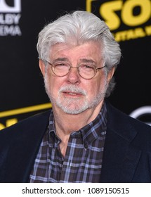 "LOS ANGELES - MAY 10:  George Lucas arrives to the ""Solo: A Star Wars Story"" World Premiere  on May 10, 2018 in Hollywood, CA"