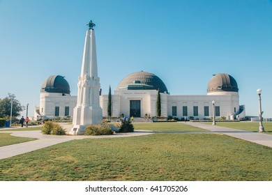 LOS ANGELES - MAY 10: Griffith Observatory on MAY 10, 2017 It is a facility in Los Angeles, California sitting on the south-facing slope of Mount Hollywood in Los Angeles