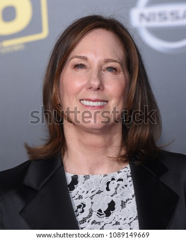 "LOS ANGELES - MAY 10:  Kathleen Kennedy arrives to the ""Solo: A Star Wars Story"" World Premiere  on May 10, 2018 in Hollywood, CA"