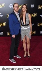 "LOS ANGELES - MAY 10:  Ptolemy Slocum and Angela Sarafyan arrives to the ""Solo: A Star Wars Story"" World Premiere  on May 10, 2018 in Hollywood, CA"