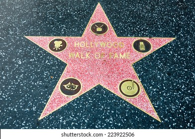 LOS ANGELES - MAY 11, 2012: Star of Hollywood Walk of Fame on May 11, 2012 in Los Angeles. There are more than 2,400 five-pointed stars which attract about 10 million visitors annually.
