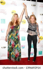 "LOS ANGELES - May 11: Jill Harth, Lisa Bloom at ""The Pussy Grabbers Play LA"" presented by the Cote d'Azur Web Fest at the Thymele Arts Center on May 11, 2019 in Los Angeles, CA"