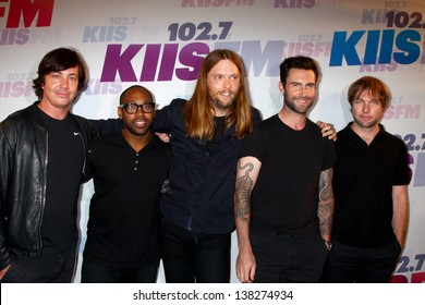 LOS ANGELES - MAY 11: Maroon 5 attend the 2013 Wango Tango concert produced by KIIS-FM at the Home Depot Center on May 11, 2013 in Carson, CA