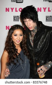 LOS ANGELES - MAY 12: Brenda Song & Trace Cyrus at the Nylon Magazine Young Hollywood Party 2010 at the Hollywood Roosevelt Hotel in Los Angeles, California on May 12, 2010