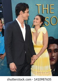 LOS ANGELES - MAY 13:  Charles Melton and Actress Camila Mendes arrives for the'The Sun Is Also A Star' World Premiere on May 13, 2019 in Los Angeles, CA