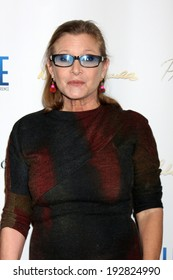 """LOS ANGELES - MAY 14:  Carrie Fisher at the """"Debbie Reynolds: The Auction Finale"""" VIP Reception at Debbie Reynolds Dance Studio on May 14, 2014 in North Hollywood, CA"""