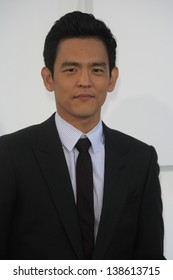LOS ANGELES - MAY 14: John Cho at the Los Angeles Premiere of Star Trek Into Darkness at the Dolby Theater on May 14, 2013 in Hollywood, Los Angeles, California