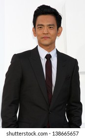 "LOS ANGELES - MAY 14:  John Cho arrives at the ""Star Trek Into Darkness"" Los Angeles Premiere at the Dolby Theater on May 14, 2013 in Los Angeles, CA"