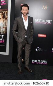 """LOS ANGELES - MAY 14:  Rodrigo Santoro arrives at the """"What To Expect When You're Expecting"""" Premiere at Graumans Chinese Theater on May 14, 2012 in Los Angeles, CA"""