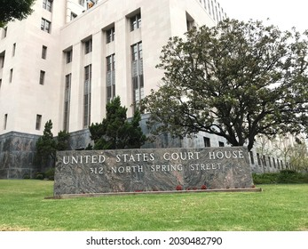 LOS ANGELES - MAY 15, 2019: An exterior of the United States Court House in Los Angeles.