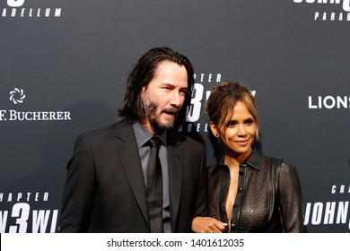 "LOS ANGELES - MAY 15:  Keanu Reeves, Halle Berry at the ""John Wick Chapter 3 Parabellum"" Los Angeles Premiere at the TCL Chinese Theater IMAX on May 15, 2019 in Los Angeles, CA"