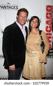 """LOS ANGELES - MAY 16: Sean Kanan,  Fiance arrives at the Opening Night of the Play """"Chicago"""" at Pantages Theatre on May 16, 2012 in Los Angeles, CA"""