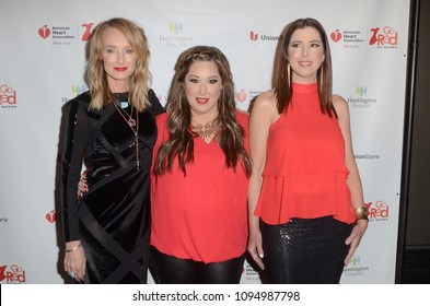 LOS ANGELES - MAY 17:  Chynna Phillips, Carnie Wilson, Wendy Wilson at the 3rd Annual Rock The Red Music Benefit at the Avalon on May 17, 2018 in Los Angeles, CA