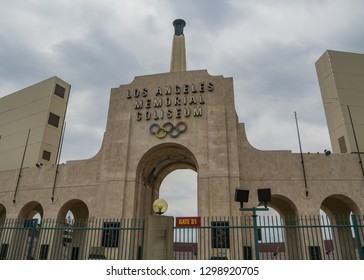 LOS ANGELES - MAY 17: Memorial Coliseum is site of many landmark events including two summer Olympics the latest in 1984. The landmark building may become obsolete. may 17, 2018, Los Angeles