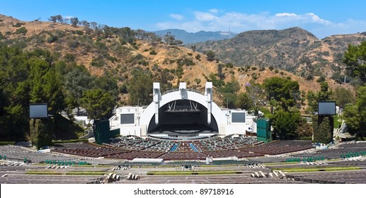 LOS ANGELES - MAY 18: The Hollywood bowl amphitheater on May 18, 2009 in Hollywood, Los Angeles, CA. It's the largest natural amphitheater in the United States, with  seating capacity of nearly 18,000