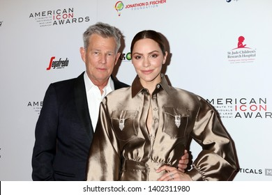 LOS ANGELES - MAY 19:  David Foster, Katharine McPhee at the American Icon Awards at the Beverly Wilshire Hotel on May 19, 2019 in Beverly Hills, CA