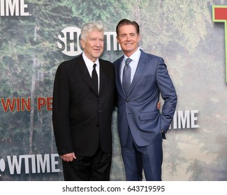 """LOS ANGELES - MAY 19:  David Lynch, Kyle MacLachlan at the """"Twin Peaks"""" Premiere Screening at The Theater at Ace Hotel on May 19, 2017 in Los Angeles, CA"""