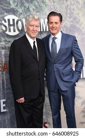 """LOS ANGELES - MAY 19:  David Lynch and Kyle MacLachlan arrives for the premiere of """"Twin Peaks"""" on May 19, 2017 in Los Angeles, CA"""