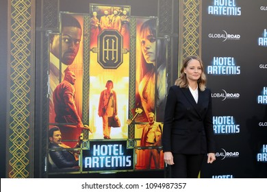 "LOS ANGELES - MAY 19:  Jodie Foster at the ""Hotel Artemis"" Premiere at Bruin Theater on May 19, 2018 in Westwood, CA"