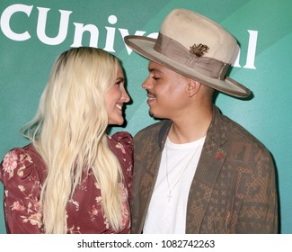 LOS ANGELES - MAY 2:  Ashlee Simpson Ross, Evan Ross at the NBCUniversal Summer Press Day at Universal Studios on May 2, 2018 in Universal City, CA