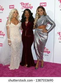 """LOS ANGELES - MAY 2:  Shia Douglas, Tina Douglas, Ashanti at the """"Dear Mama: A Love Letter to Mom"""" VH1 Special at The Theatre at Ace Hotel on May 2, 2019 in Los Angeles, CA"""