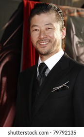 LOS ANGELES - MAY 2:  Tadanobu Asano at the premiere of Thor at the El Capitan Theater, Los Angeles, California on May 2, 2011.