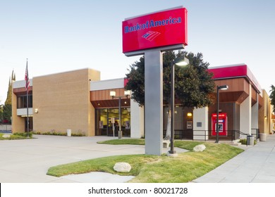 LOS ANGELES - MAY 20: A Bank of America branch bank located in Burbank, California, near Los Angleles on May 20, 2011.  The bank is a major participant in the on-going economic crises in the U.S.