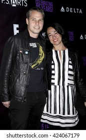 LOS ANGELES - MAY 20:  Shepard Fairey, Amanda Fairey at the PS Arts - The Party at NeueHouse Hollywood on May 20, 2016 in Los Angeles, CA