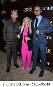 """LOS ANGELES - MAY 21:  Ben Kingsley, Jacki Weaver, Jimmi Simpson_ at the """"Perpetual Grace, LTD"""" Los Angeles Premiere at the Linwood Dunn Theater, on May 21, 2019 in Los Angeles, CA"""