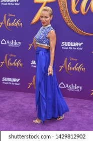 LOS ANGELES - MAY 21:  Jada Pinkett Smith arrives for the 'Aladdin' World Premiere on May 21, 2019 in Hollywood, CA