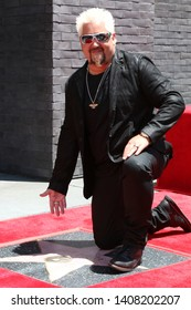 LOS ANGELES - MAY 22:  Guy Fieri at the Guy Fieri Star Ceremony on the Hollywood Walk of Fame on May 22, 2019 in Los Angeles, CA