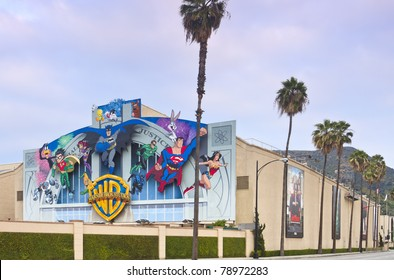 LOS ANGELES - MAY 22: Warner Bros Movie Studio on May 22, 2011 located in Burbank, CA an area near Los Angeles. The iconic studio remains an important tourist attraction to the Los Angeles area.