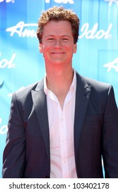 """LOS ANGELES - MAY 23:  Jonathan Mangum arrives at the """"American Idol 2012"""" Finale at Nokia Theater on May 23, 2012 in Los Angeles, CA"""