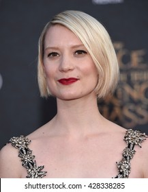 """LOS ANGELES - MAY 23:  Mia Wasikowska arrives to the """"Alice Through The Looking Glass"""" American Premiere  on May 23, 2016 in Hollywood, CA."""
