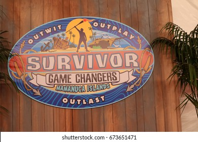 """LOS ANGELES - MAY 24:  Survivor Game Changers Atmosphere at the """"Survivor: Game Changers - Mamanuca Islands"""" Finale at the CBS Studio Center on May 24, 2017 in Studio City, CA"""