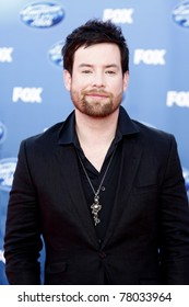 LOS ANGELES - MAY 25: David Cook at the American Idol Finale at the Nokia Theater in Los Angeles, California on May 25, 2011.