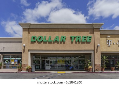 Los Angeles, MAY 25: Exterior view of the budget store - Dollar Tree on MAY 25, 2017 at Los Angeles, California, U.S.A.