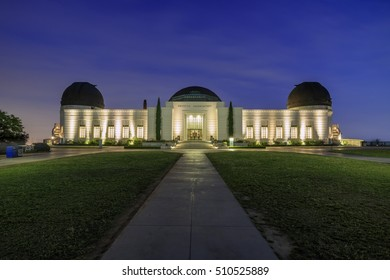 Los Angeles, MAY 25: Griffin Observatory night scene on MAY 25, 2015 at Los Angeles, California